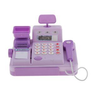 Elektronische Spielkasse Kasse 18 x 12 x 9,5 cm Supermarkt Registrierkasse für Kaufladen Spielküche Lila Multifunktion Simulationsspielzeug wie beschrieben