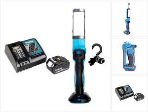 Makita DML 801 RG1 Akku Lampe 14,4 - 18 V + 1x Akku 6,0 Ah + Ladegerät