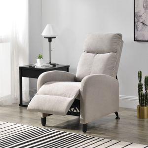 Polstersessel Bregenz Relaxsessel Relaxliege 102x60x92 cm Liegesessel Fernsehsessel Sessel mit verstellbarer Rückenlehne TV Sessel aus Textil Braun [en.casa]