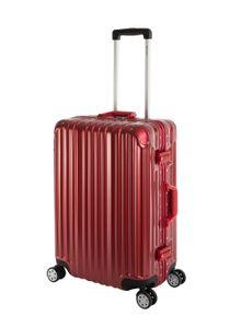 Travelhouse London Hartschalen Polycarbonat Alu Koffer Trolley Reise Urlaub 67l Rot