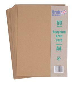 Kraftpapier DIN A4, 50 Blatt