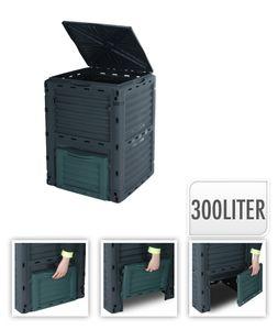 Komposter, Gartenkomposter, 300l, Kompostbehälter, Kompostierer, Gartenabfallbehälter