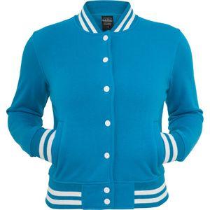 Urban Classics Ladies College Sweatjacket, Größe: S; Farbe: Turquoise