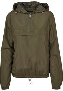 Urban Classics - Ladies Basic Pull Over Jacket TB2013 black Damen Windbreaker Regenjacke Größe M