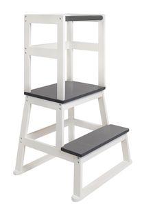 BOMI® Learning Tower für Baby & Kleinkinder   Trittschemel Kinderschemel aus Holz   Kinderhocker & Tritthocker   Steherhöhung als Kindermöbel   Schemel für die Küche oder als Badhocker   Lernturm Lerntower Lernstuhl