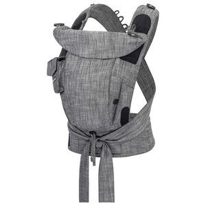 Hoppediz® Bondolino Plus Popeline Design: Denim-schwarz, Größe: One Size mit Aufbewahrungsbeutel und bebilderte Bindeanleitung
