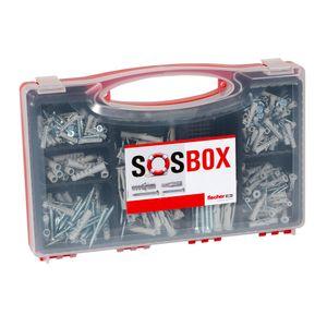 fischer SOSBOX Dübel S + FU + Schrauben