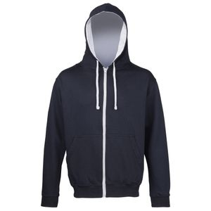 Awdis Herren Sweater Jacke mit Kapuze RW182 (XL) (Marineblau/Hellgrau)