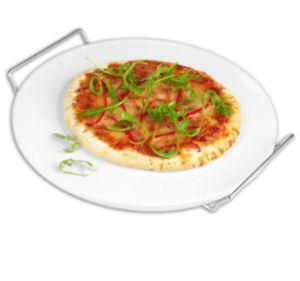 Grill- und Pizzastein mit Gestell für Grill und Backofen