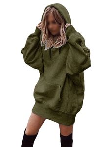 Damen Langarm Loose Casual Pullover T-Shirt,Farbe: Armeegrün,Größe:XXL