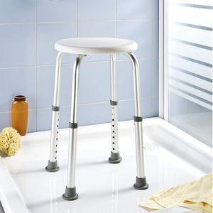 Wenko Duschhocker weiß höhenverstellbar Wannenhocker Wannensitz Duschhilfe