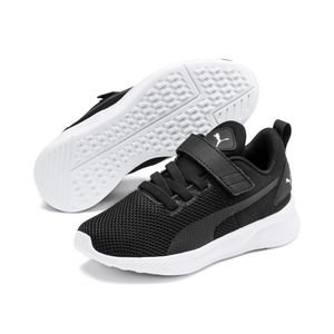 Puma Unisex Kinder Flyer Runner V PS Sneaker Laufschuhe Schwarz, Größe:EUR 28 / UK 10 / 17 cm