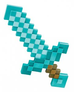 Minecraft Pixel Schwert als Kostümzubehör & Fanartikel