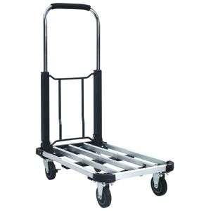vidaXL Transportwagen Klappbar 150 kg Aluminium Silbern