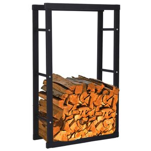 Zelsius Kaminholzregal | 40 x 25 x 150 cm | Brennholzregal für Innen und Außen
