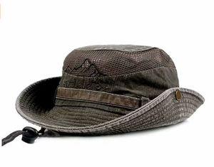 Sonnenhut Herren Sommerhut UV-Schutz Wanderhut Eimer Hut Wandern Kinnriemen faltbarer Hut mit Kinnriemen Outdoor Buschhut Wandern Eimer Hut