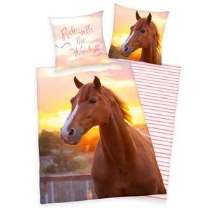 Herding Renforcé-Bettwäsche Pferd 135 x 200/80 x 80 cm