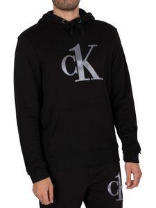 Calvin Klein Herren Lounge Graphic Kapuzenshirt, Schwarz M