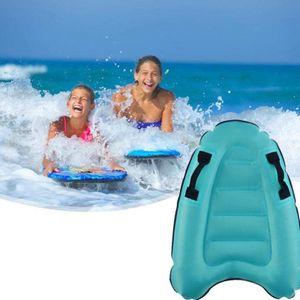 Aufblasbares Bodyboard, Tragbares aufblasbares Float, aufblasbares Meer Surfbrett mit Griff für Kinder Surfen, 52*75cm