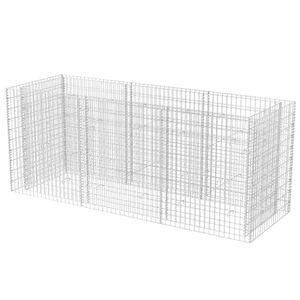 vidaXL Gabionen-Hochbeet Stahl 270×90×100 cm