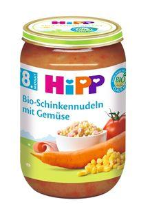 HiPP Menüs ab 8.Monat,Schinkennudeln mit Gemüse, DE-ÖKO-037 - VE 220g
