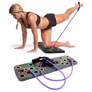 Push Up Board Muskeltraining Push-up Brett mit Handles Widerstandsband für Männer Frauen Home Training Outdoor Bauchmuskel
