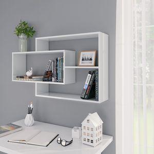 dereoir Wandregale Hochglanz-Weiß 104×24×60 cm Spanplatte
