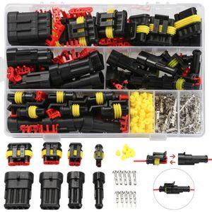 Miixia 352stk KFZ Stecker Steckverbindung Steckverbinder Auto Wasserdicht Kabel Set RF