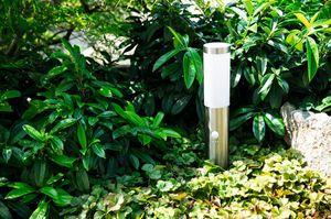 Heitronic Sockelleuchte LARISA 2/450 mit Bewegungsmelder und Tag/Nachtsensor