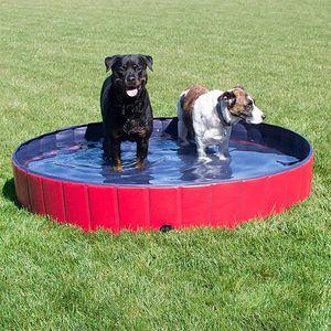 Speed Hundepool,Doggy Pool,Katzenpool,Faltbares Pool,Kinderbadewann,Rot,80x20CM