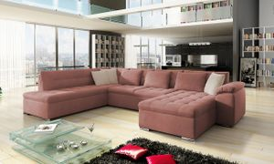 Mirjan24 Ecksofa Niko Bis, Bettkasten und Schlaffunktion, Sofa vom Hersteller, Polstergarnitur (Mono 235 + Mono 235 + Mono 231, Seite: Rechts)