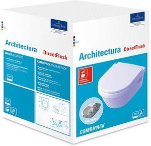 Villeroy & Boch Omnia architectura Tiefsplklosett wasserrandlos Combi-Pack 370x503mm Weiß Alpin ceramicplus - 5684HRR1