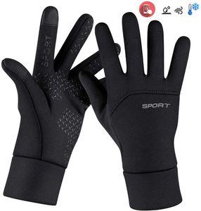 Fahrradhandschuhe Touchscreen, Winterhandschuhe Herren Fahrrad Wasserdicht, Touchscreen Handschuhe rutschfest für Radfahren, Motorradfahren, Wandern(XL)