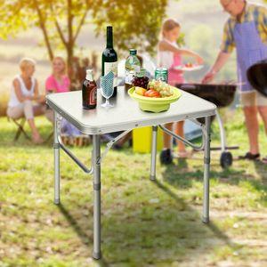 Alu Campingtisch Partytisch Klapptisch Gartentisch BBQ Picknicktisch 60x45cm Falttisch Höhenverstellbar Tragbartisch