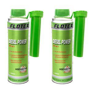Flotex Diesel Power, 2 x 250ml Additiv Kraftstoffsystemzusatz für alle Dieselmotoren