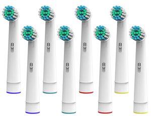 8 Aufsteckbürsten passend für viele elektrische Zahnbürsten von Nevadent (siehe Angebotsdetails)