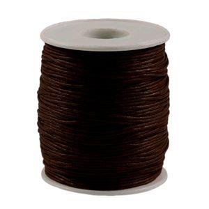 90m gewachste Baumwollschnur 1mm Wachsschnur Schmuckkordel Schnur, Farbwahl, Farbe:dunkelbraun