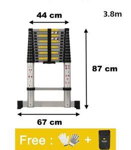 3.8 m Teleskopleiter Multifunktionsleiter Aluleiter Anlegeleiter Klappleiter Stehleiter