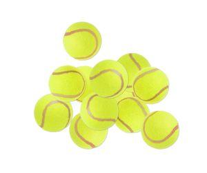 Tennisbälle im Set 12 Stück Standard Tennisball gelb 65mm in Polybeuteln