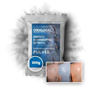 Capillum AMOVE Original 200g schmerzfreies Intim Dusch Enthaarungscreme als Pulver für Mann & Frau ohne synth. Zusätze