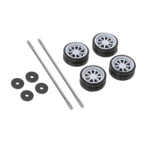 4Pcs 1/64 Skala Diecast Racing auf-Straße Modell Auto Rad & Reifen Ersatzteile für 1:64 heißer Räder G1 Mehrfarbig
