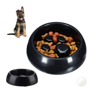 relaxdays 2 x Anti Schling Napf Futternapf Hundenapf Fressnapf Tiernapf  langsam Fressen