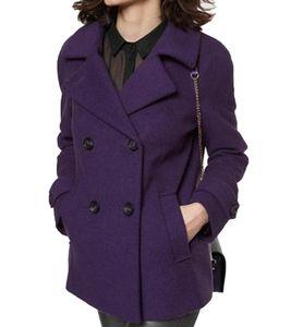 GUIDO MARIA KRETSCHMER Caban-Jacke kuschelige Damen Woll-Jacke Violett, Größe:44