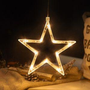 2 Stücke LED Stern Lichterkette Fensterlicht mit Saugnapf Für Party Weihnachten Hängende Fenster Deko