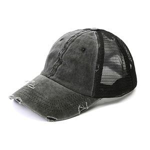 Sommer Pferdeschwanz Baseball Cap Outdoor Sports Verstellbarer Anti UV Mesh Peaked Hut