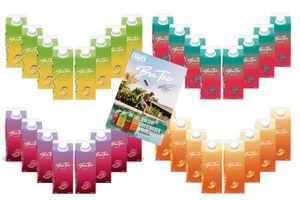 Capital BraTee 32er Tasting Set 8 pro Geschmackssorte Eistee je 750ml + Autogrammkarte BRATEE Ice tea 8x Wassermelone 8x Zitrone 8x Pfirsich 8x Granatapfel - mit Capi-Qualitäts-Siegel