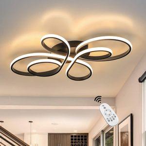 ZMH LED Deckenleuchte Modern 65W Dimmbar Deckenlampe mit Fernbedienung Kreative in Schmetterlingforming
