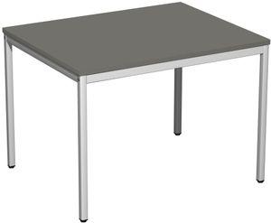 Konferenztisch, gerade, verschiedene Größen und Farben, Farbe:Graphit, Größe Tischplatte:100 x 80 cm
