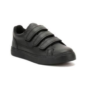 Kickers Kids Tovni-Turnschuhe aus schwarzem Leder