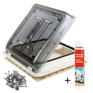 Dachfenster Fiamma Vent 40x40 cm Klar + Dichtmittel + Schrauben für Wohnwagen